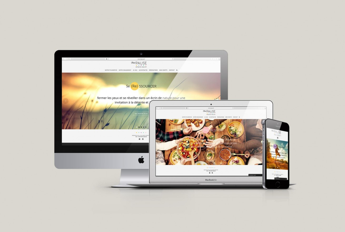 repause.fr | website mockup by Artlinkz ® | Branding, Webdesign, CMS, Responsive, E-Commerce
