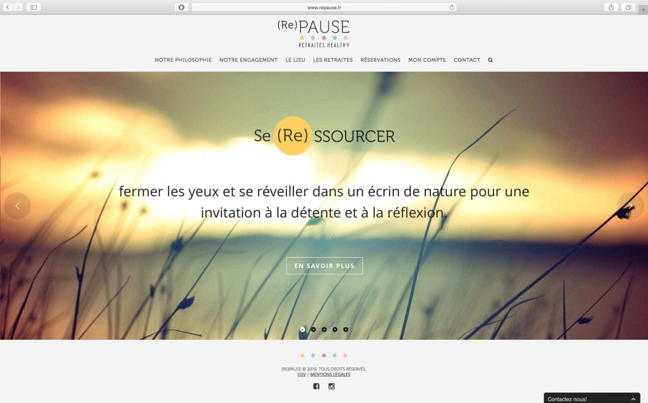 repause.fr | website by Artlinkz ® | Branding, Webdesign, CMS, Responsive, E-Commerce