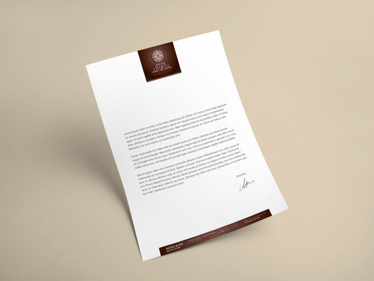 Riad Edward | Letterhead by Artlinkz